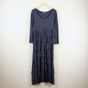 Soft Surroundings Fontaine Ruffle Maxi Dress